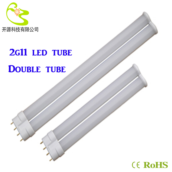 Фотография 10w led tube 2g11 85-265v 2835 smd LED Horizontal Insert 4-pin PL lamp  2g11 double-barreled tube 2g11 led lamp 10w