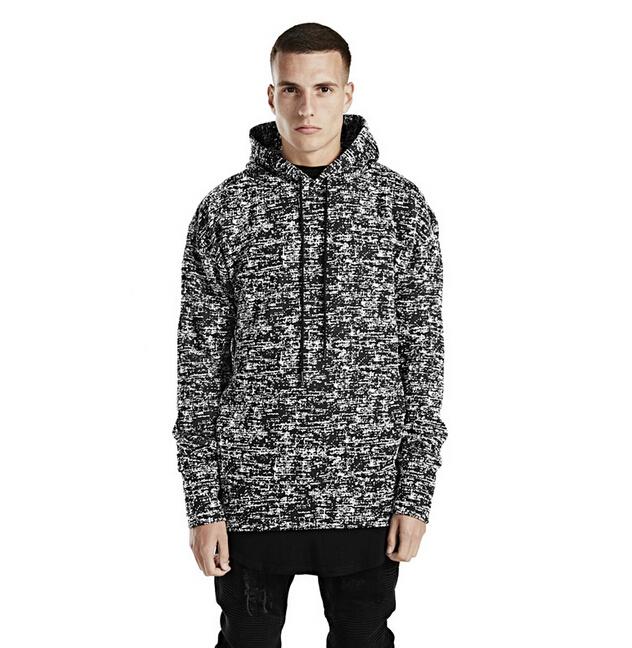 Black Hoodie 2015 Autumn New Fear Of God Casual Plain Side Zipper Loose Swag Hoodies Men Pullover Sweatshirt(China (Mainland))