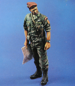 1/35 WW2 Model Soldier (Excluding Map, can be substituted with normal papers) Assembly Second World War Model(China (Mainland))