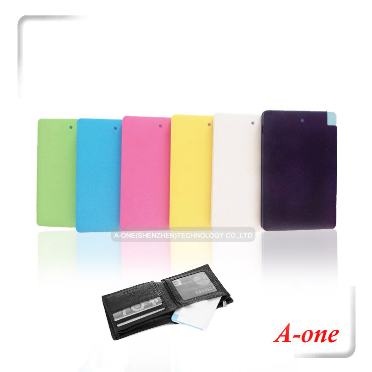 10pcs Hot sell portable Power Card 2500mah portable multi power charger for all smartphone(China (Mainland))