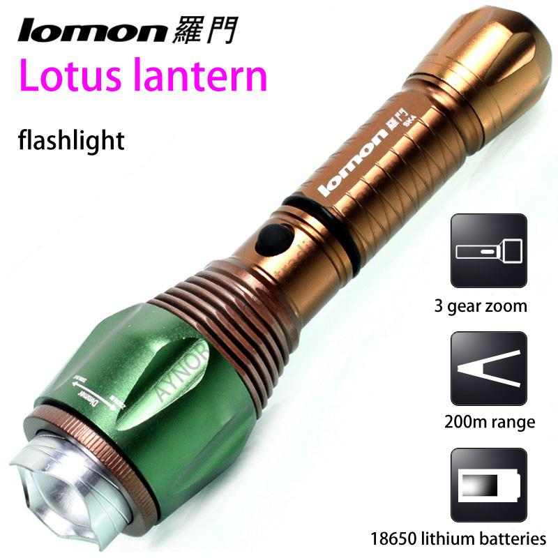 [ Solomon ] LED rechargeable flashlight Ninghai shop big Rotate the focus of self-defense anti-wolf Flashlight(China (Mainland))