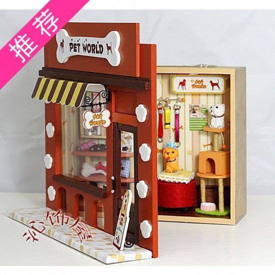 Handmade Model Assembled Kits Diy Toy Wood 3D Home Miniature Model Kit With Furniture Dollhouse Toy Carfts(China (Mainland))