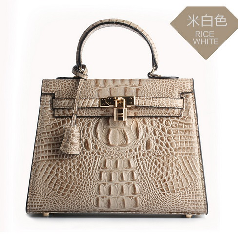 Luxury luxury handbags women shoulder bag leather crocodile grain fashion leisure platinum female bag<br><br>Aliexpress