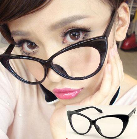 Large Framed Cat Eye Reading Glasses : 2014 Fashion PVC Plastic Vintage Glasses Classical Design ...