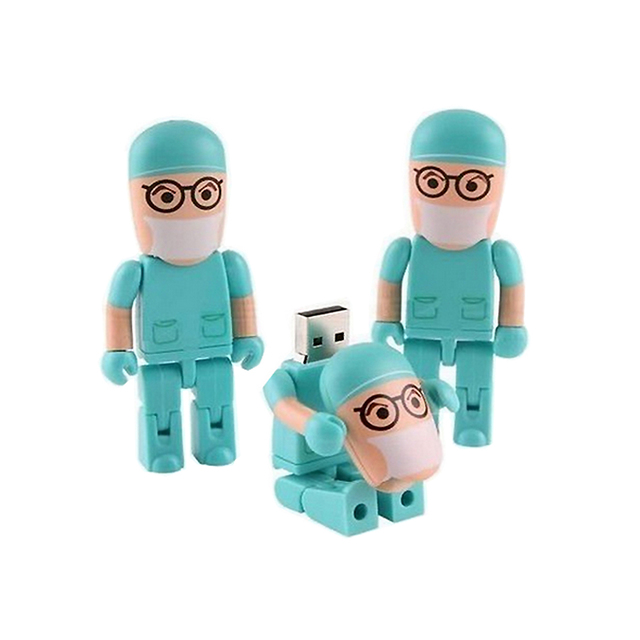 Hot Sale Catoon 8GB Doctor model USB 2.0 Flash Memory Pen Drive Stick LU009