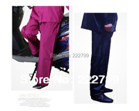 free shipping Motorcycle electric bicycle ride split raincoat adult fashion thickening double layer rain pants