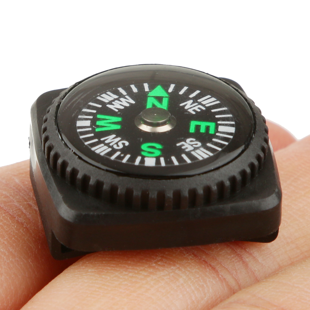 Pocket Compass with Rubber Holster Watch Band Paracord Bracelet Universal Size Holster Watch Band Compass Outdoor tools