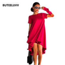 Short Sleeve Loose Women Dress Pink Red Casual Womens Dresses 2XL Elegant Long Summer Party Dresses Fashion Dress For Women(China (Mainland))