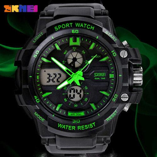 Skmei Men's Dual Sports Watches Military analog Digital Chronograph WristWatch Dive Waterproof New Relogio esportivo S-Shock(China (Mainland))
