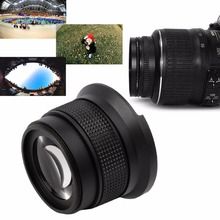 New0.35X52MM Super HD Wide Angle Fisheye Lens With Macro for Canon Camera(China (Mainland))