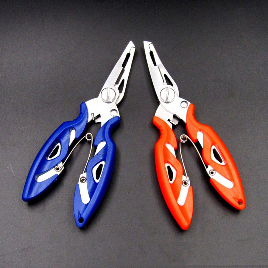 3 color Fishing Multifunctional Plier Stainles Steel Carp Fishing Accessories Fish tackle Lure Hook Remover Line Cutter Scissors(China (Mainland))