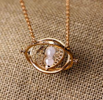 Estilo Vintage Harry Potter tempo colar Turner o pomo de ouro jóias Popular presente antigo