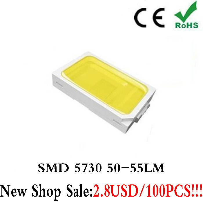 Гаджет  TomDa-2015 Rushed Promotion Surface Mount Ir Led 100pcs White SMD SMT 5730 0.5W Ultra Birght Led Diode Chip Free Shipping None Электронные компоненты и материалы