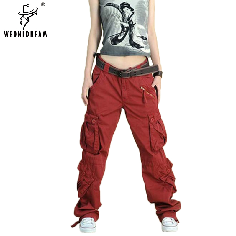 New Arrive 2016 Plus Size 5colors Cargo Pants Women's Overall,Hip Hop Sport Loose Jeans Baggy Pants For Women(China (Mainland))