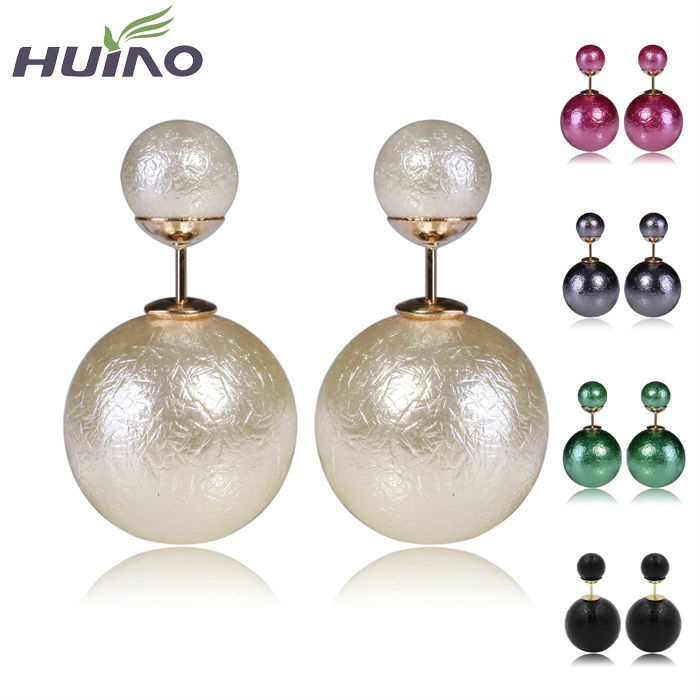 Discount Wrinkle Pearl Womens Earrings Fashion Wom...