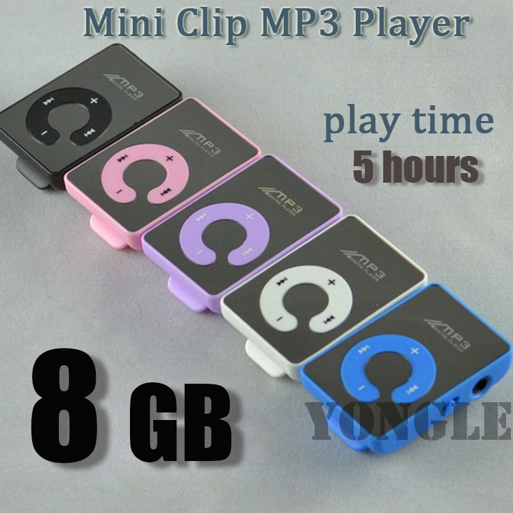 Big promotion 8G card Mirror Portable MP3 player Mini Clip MP3 Player waterproof sport mp3 music