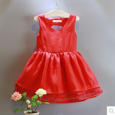 2015 Kids Summer Girls Cotton Lace Dress Princess Toddler Girl Clothing Princess Party Clothings Red Lace Toddler Dress<br><br>Aliexpress