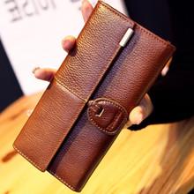 Женщины Подлинной натуральной Кожи Бумажник Сцепления кошелек сумки мода марка дизайн молнии женщины длинные кошельки кошелек женский ремень сумки кошелек