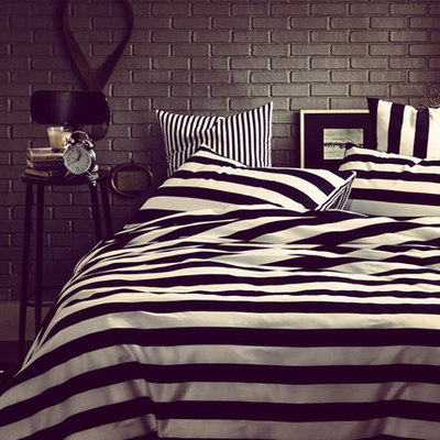 Golive Breif Style Bedding Set Black & White Classic Color 100% Cotton Duvet Cover 3/4PCS Full Queen Sizes GL-BT002(China (Mainland))