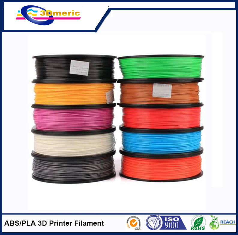 30% discount and quick express 1.75mm 3.00mm PLA / ABS 3D printer filament in good quality(China (Mainland))