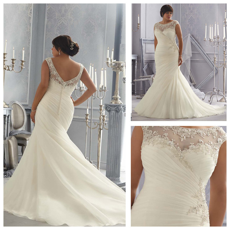 Plus Size New Arrival Mermaid Wedding Dress Fall And