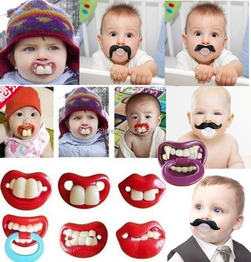 1 Piece Infant silicone Pacifier Hot Funny Dummy Dummies Pacifiers  baby pacifiers baby teeth teeth and funny personality devil(China (Mainland))