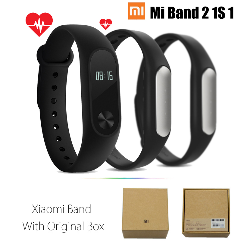 Original Xiaomi Mi Band 2 1S 1 Smart Wristband Bracelet xiomi miband2 Heart Rate Fitness Tracker miband band2 For IOS Android(China (Mainland))