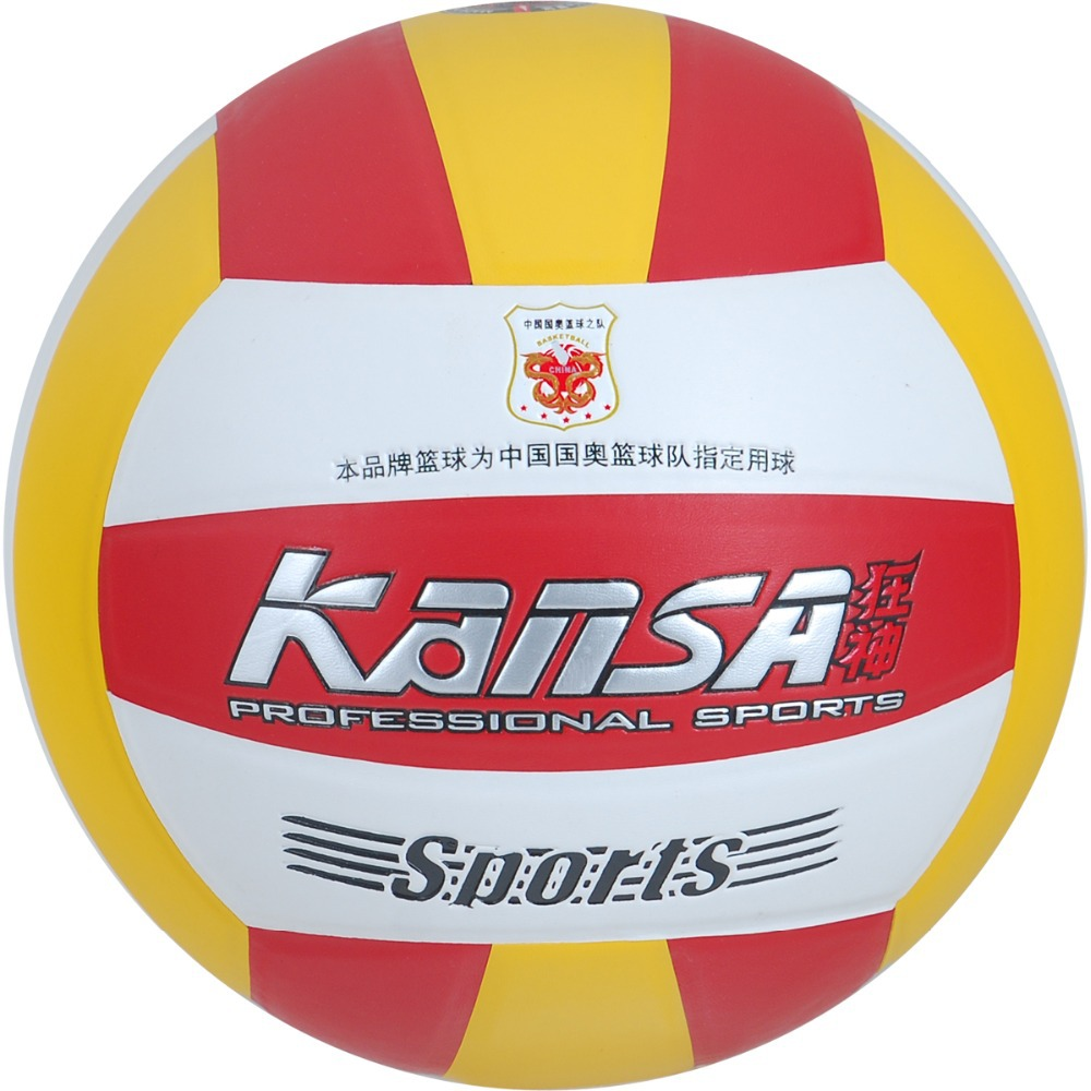 High quality size5 PVC Seamless leather outdoor/indoor training competition volleyball ball genuine beach handball and pump(China (Mainland))