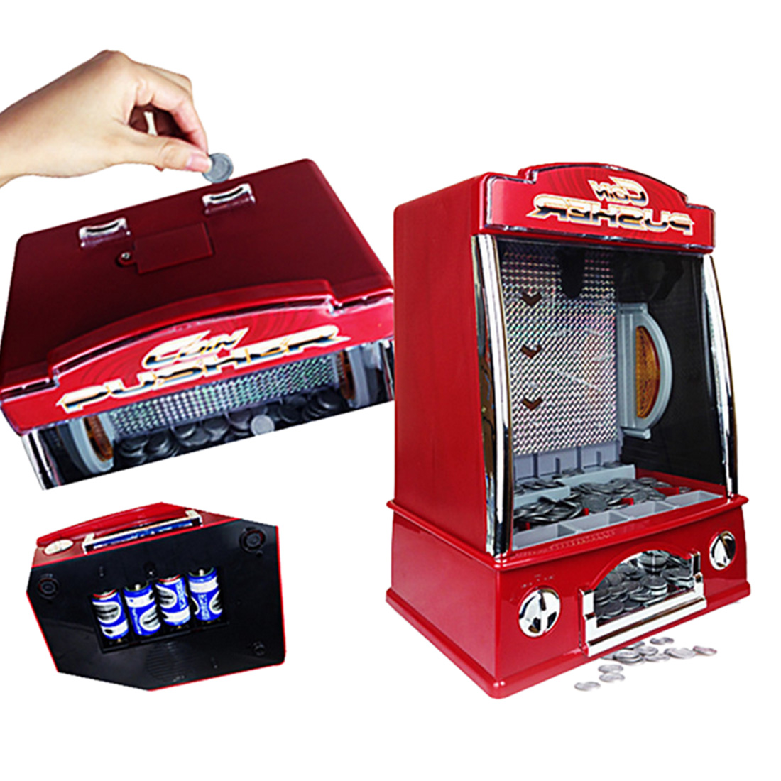 Mini Penny Pusher Coin Pusher Toy for Kids Fairground Arcade Amusements Game Replica for Famile Children(China (Mainland))