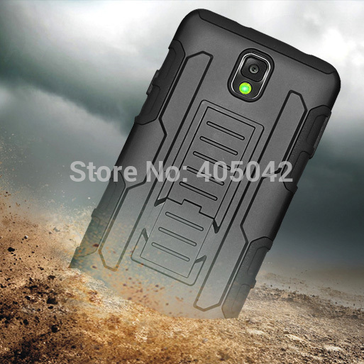 4in1 Protective Armor Impact Hard Case Cover Holster Belt Clip FREE GIFT FILM PEN For Samsung Galaxy Note III 3 N9000(China (Mainland))