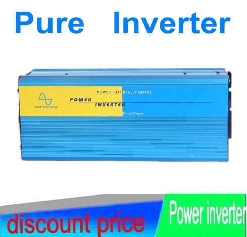 DHL Fedex Free shipping 5000w Pure Sine Wave Inverter 12V DC to 220V AC Solar/Wind/Car/Gas Power Converter Inversor puro 5000W<br><br>Aliexpress