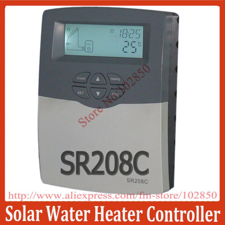 2013Updated Solar Water Heater Controller SR208C for split solar water heating system,low price with high quality(China (Mainland))
