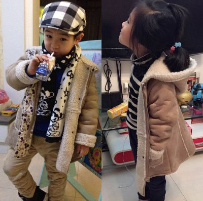 2015 Winter Boys Girls Clothing Fashion Casual Long Trench Coat Kids Berber Fleece Overcoat Clothes Child Jacket Outerwear Y557 <br><br>Aliexpress
