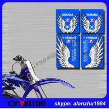 WR YZ YZF NX TTR XR 250 125 450 500 MOTORCYCLE 3M GRAPHICS BACKGROUND UPSIDE DOWN FORK DECALS SHOCK ABSORBER STICKER SETS - CYMOTO store