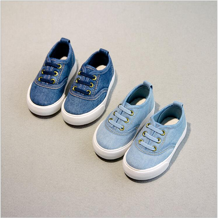 New Arrival!Fashion Kids Shoes for Boy sneakers Canvas Children Shoes Denim Running Sport Baby Sneakers Girls Boys Canvas Shoes