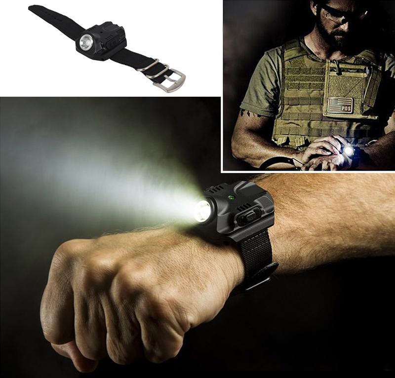Гаджет  Tactical R2 Rechargeable LED Watch Flashlight Wristlight Waterproof Wrist Lighting Lamp Outdoor None Свет и освещение