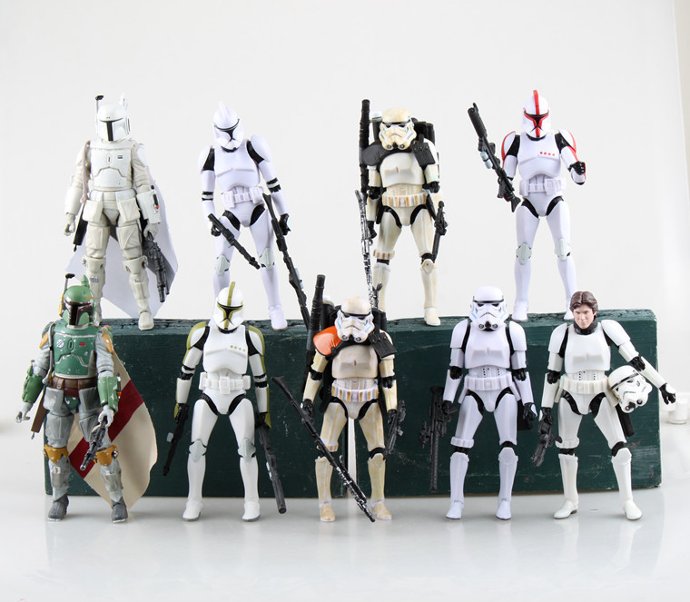 6inch 9 style Star Wars The Black Series Boba Fett stormtrooper Sandtrooper Clone Trooper Captain Action