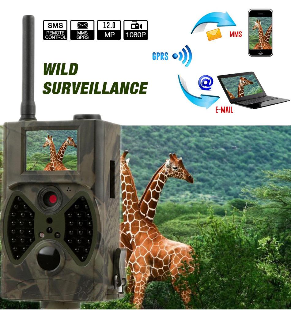 HC300M 12MP Hunting Camera 940nm Night Vision Full HD 1080P MMS GPRS Hunting Game Trail Cameras