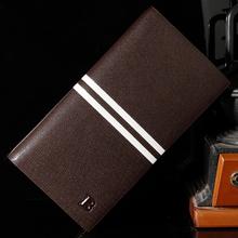New 2015 Men Wallets Brand Mens Long Wallet Male Money Purses With Flip Up ID Window Thin Long Korean Style Wallet
