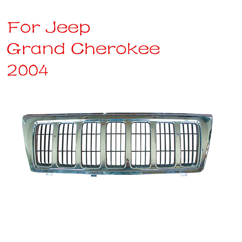 2015 New Arrive Replacement ABS Chrome Innovative Silver Angry Front Grille Grill For Jeep Grand Cherokee 2004 Car-Styling<br><br>Aliexpress