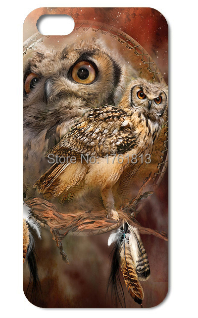 Cute Elegant Owl Faceplate phone cases for Iphone 4 4s 5 5s 5c 6 6plus Samsung galaxy A3 A5 A7 S3 S4 S5 Mini S6 Edeg Note 2 3 4(China (Mainland))
