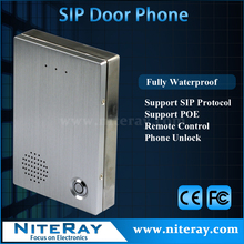 2016 NEW !!! VoIP remote control intercom doorbell / ip control lock support voip SIP phone PBX system
