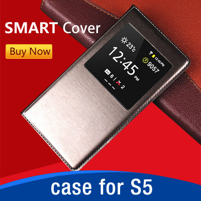 Original Flip Leather Mobile Phone Bag Coque Case Accessories For Samsung Galaxy S5 i9600 Cover Luxury Brand Smart SleepWake(China (Mainland))