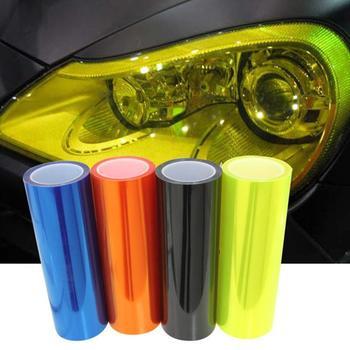 car styling 12 Colors 30x100cm Auto Car Light Headlight Taillight Tint Vinyl Film Sticker Lamp Stickers Brake Light Accessories