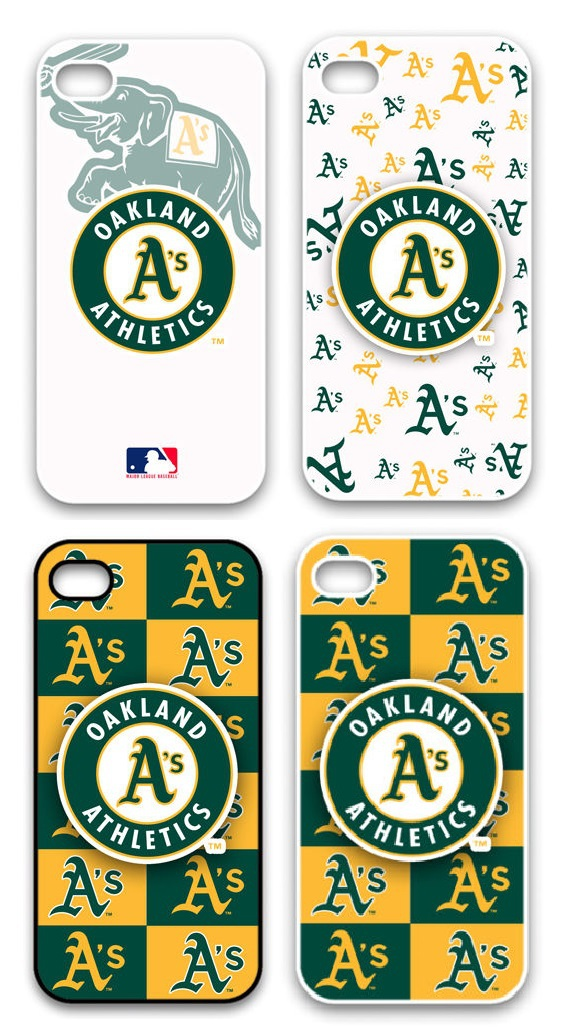 MLB Baseball Oakland Athletics Plastic Hard Back Cell Phone Case Cover Cases for Apple iPhone 4 And 4S(China (Mainland))