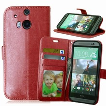 New High-grade leather + TPU wallet phone Cases For HTC One M8 M8t M8s M8e Case cover For HTC One m8 m8t