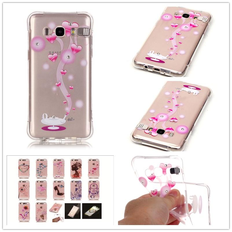 For Samsung Galaxy J5 2016 J510 Case Shatter-resistant Gas cushion shining Case Luxury Diamond Jewelry transparent TPU case(China (Mainland))