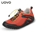 UOVO 2016 fall breathable children sport shoes unisex textile outdoor shoes for child elastic band slip