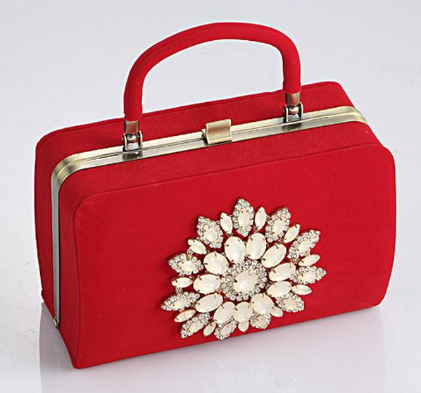 DIAMOND FLOWER red women purses and handbags bridal wedding party evening clutch bags small tote bag bolsa de festa 734t<br><br>Aliexpress