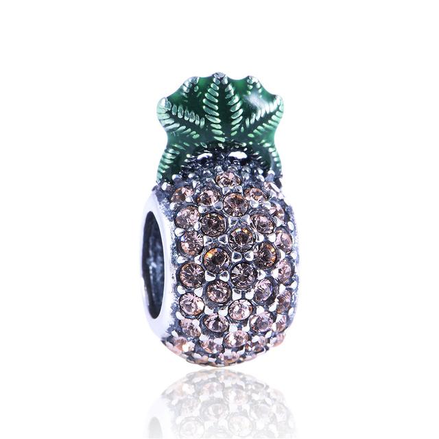 Новый горячая распродажа подходит для браслеты ожерелья стерлингового серебра бусины ананас подвески DIY бусины оптовая продажа